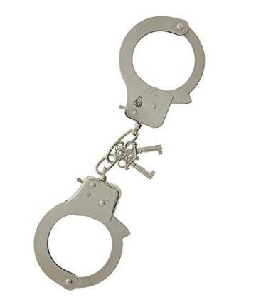 Полицейски метални белезници с ключове - Large Metal Handcuffs — 2