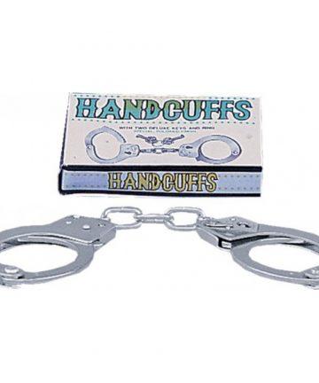 Полицейски метални белезници с ключове - Large Metal Handcuffs — 3