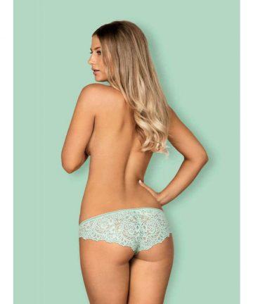 Дантелени бикини в цвят мента - Delicanta Panties S/M — 3
