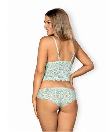 цвят мента - Delicanta top & panties S/M — 6