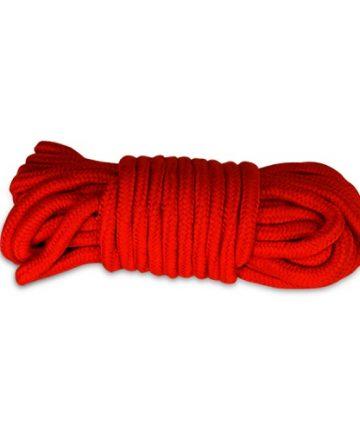 Памучено въже за робство в червен цвят 10м. - Fetish Bondage Rope Red — 2