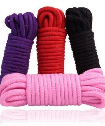Памучено въже за робство в розов цвят 10м. – Fetish Bondage Rope Pink — 4
