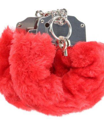 Белезници с червен плюш - Beginner's Furry Cuffs — 2