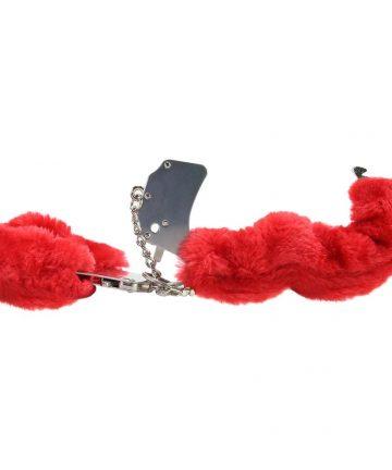 Белезници с червен плюш - Beginner's Furry Cuffs — 3