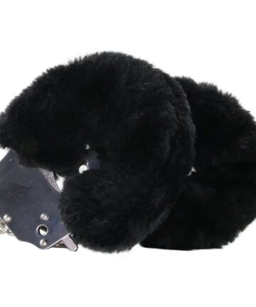 Белезници с черен плюш - Beginner's Furry Cuffs — 2