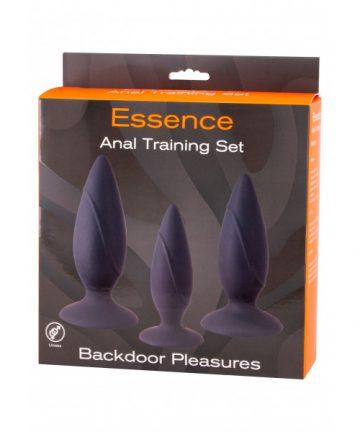 Комплект анални плъгове от силикон - Essence Anal Training Set — 4