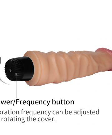 20см. - Real Feel Cyberskin Vibrator — 3